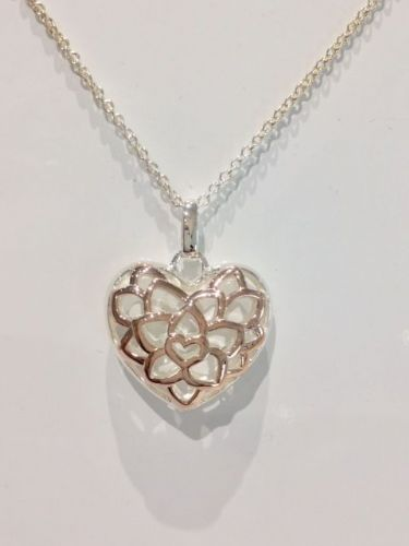 Rose Gold Plated Sterling Silver Heart Necklace SB5